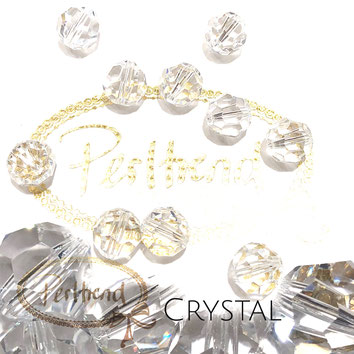 www.perltrend.com Perltrend Luzern Schweiz Onlineshop Perlen Schmuck Accessoires original Swarovski Crystals Crystal 5000 facet bead facettiert rund 10 mm Crystal