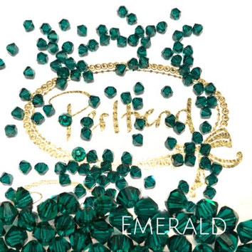 Perltrend www.perltrend.com Luzern Schweiz Onlineshop Schmuck Perlen Swarovski Crystals Bicone beads bead Doppelkegel 4 mm Emerald