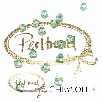Perltrend www.perltrend.com Luzern Schweiz Onlineshop Schmuck Perlen Swarovski Crystals Bicone beads bead Doppelkegel 6 mm Chrysolite