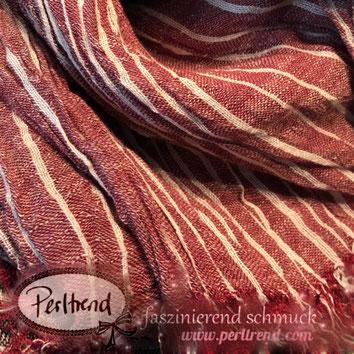 www.perltrend.com Perltrend Luzern Schweiz Schmuck Mode Accessoires Schal Tücher Foulards Streifen gestreift Muster
