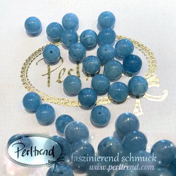 www.perltrend.com Edelsteine Gemstones Steine Perlen Heilsteine Schmuck Schmuckdesign Perltrend Luzern Schweiz Onlineshop  Edelsteinperlen Naturstein Anhydrit Angelit  hellblau blau blue  gelocht 8 mm