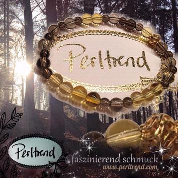 www.perltrend.com Armband Bracelet Forest Sunshine Rauchquarz Topaz Citrine Braun gelb gold Perltrend Luzern Schweiz Onlineshop Edelstein Gemstones brown yellow bracelet