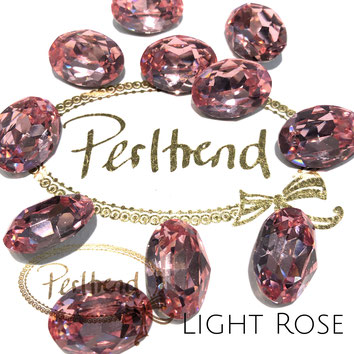Perltrend Luzern Schweiz Onlineshop Schmuck Perlen Accessoires Verarbeitung Design Swarovski Crystals Crystal original  Fancy Stone oval 18 mm facettiert Light Rose