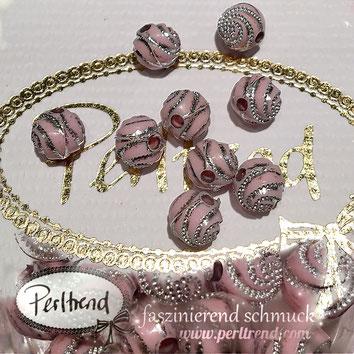 Perlen www.perltrend.com Jewel  Jewellery Jewelry Schmuck Luzern Schweiz Online Shop Acrylperlen Acryl DIY basteln Schmuckdesign Dekoration hellrosa rosa