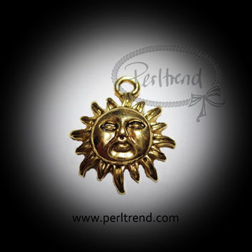 www.perltrend.com Anhänger Sonne goldfarben