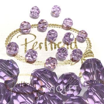 www.perltrend.com Perltrend Luzern Schweiz Onlineshop Perlen Schmuck Accessoires original Swarovski Crystals Crystal 5000 facet bead facettiert rund Violet 8 mm
