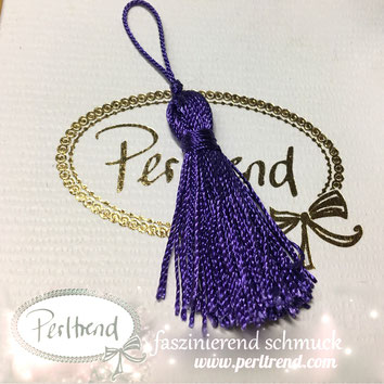 www.perltrend.com Perltrend Schweiz Luzern Perlen Beads Crystals Edelsteine Schmuckzubehör Schmuckverarbeitung Verarbeitungsmaterial basteln Dekoration Quasten violett
