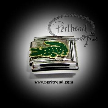 www.perltrend.com charm schmuck module armband tiere krokodil