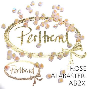 Perltrend www.perltrend.com Luzern Schweiz Onlineshop Schmuck Perlen Swarovski Crystals Bicone beads bead Doppelkegel Rose Alabaster AB Aurore Boreale 2x