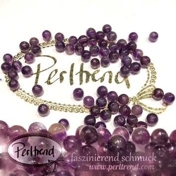 www.perltrend.com Edelsteine Gemstones Steine Perlen Heilsteine Schmuck Schmuckdesign Perltrend Luzern Schweiz Onlineshop Amethyst dunkel tintig Edelsteinperlen