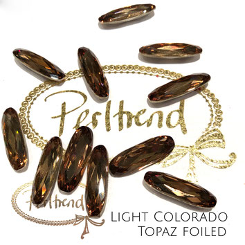 www.perltrend.com Swarovski Crystal Elements original Crystals Perltrend Luzern Schweiz Onlineshop Schmuck Jewellery Schmuckverarbeitung facettet facettierte Cabochons Crystal facettiert Fancy Stones Long Classic Oval 4161 21 x 7 mm Light Colorado Topaz