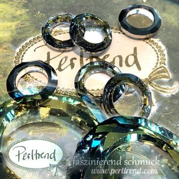 www.perltrend.com Swarovski Crystal Elements original Crystals Perltrend Luzern Schweiz Onlineshop Schmuck Jewellery Schmuckverarbeitung Cosmic Ring tabac 20 mm