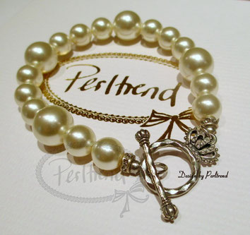 www.perltrend.com Armschmuck Armband Armkette creme cream pearls Perlen Schmuck Jewellery Jewelry onlineshop Luzern Schweiz
