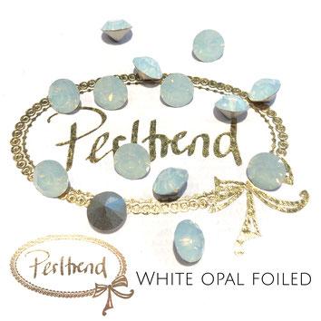 Perltrend Luzern Schweiz Onlineshop Schmuck Perlen Accessoires Verarbeitung Design Swarovski Crystals Crystal original Xilion 1028 Chaton Round Stone Crystal facettiert 8 mm White Opal