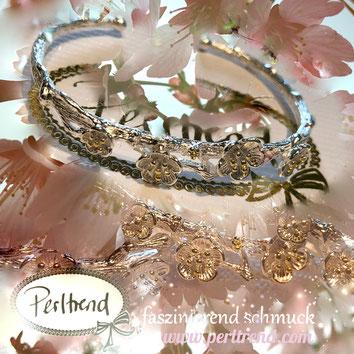 www.perltrend.com Armschmuck silber gold silberfarben Armreit Armschmuck Perltrend Luzern Schweiz Onlineshop Schmuck Jewellery Jewelry Fashion Accessoires Modeschmuck Feder Kraft Stärke