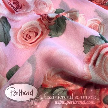 www.perltrend.com Perltrend Luzern Schweiz Schmuck Mode Accessoires Schal Tücher Foulards Rosen Blumen Muster