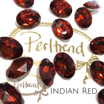Perltrend Luzern Schweiz Onlineshop Schmuck Perlen Accessoires Verarbeitung Design Swarovski Crystals Crystal original  Fancy Stone oval 18 mm facettiert Indian Red