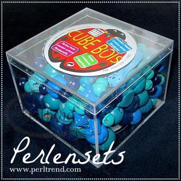 Perlensets Boxen Holzperlen Acrylperlen Glasperlen www.perltrend.com Luzern Schweiz Onlineshop basteln Kinder Schmuck beads