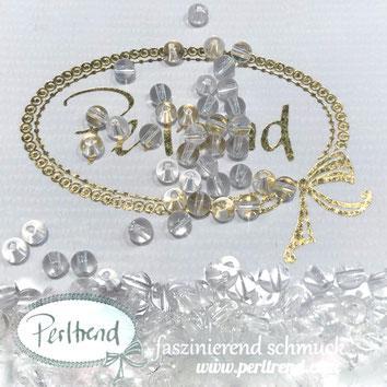 www.perltrend.com Edelsteine Gemstones Steine Perlen Heilsteine Schmuck Schmuckdesign Perltrend Luzern Schweiz Onlineshop  Bergkristall Kristall Quarz Crystal durchsichtig transparent rund Kugel Perle 4 mm