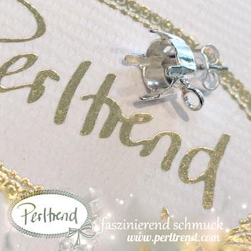 www.perltrend.com Luzern Schweiz Onlineshop Schmuck Jewellery Jewelry Design Style Schmuckdesign Fassung Rund Swarovski Crystals Ohrstecker