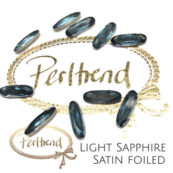 www.perltrend.com Swarovski Crystal Elements original Crystals Perltrend Luzern Schweiz Onlineshop Schmuck Jewellery Schmuckverarbeitung facettet facettierte Cabochons Crystal facettiert Fancy Stones Long Classic Oval 4161 15 x 5 mm Light Sapphire Satin