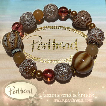 Perltrend Luzern Schweiz Onlineshop www.perltrend.com Schmuck Armschmuck Bracelet Armkette Armband Schmuck Jewellery Jewelry online shop Design Beige Summer Treasures Lovely Sandy Beach