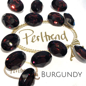 Perltrend Luzern Schweiz Onlineshop Schmuck Perlen Accessoires Verarbeitung Design Swarovski Crystals Crystal original  Fancy Stone oval 18 mm facettiert Burgundy