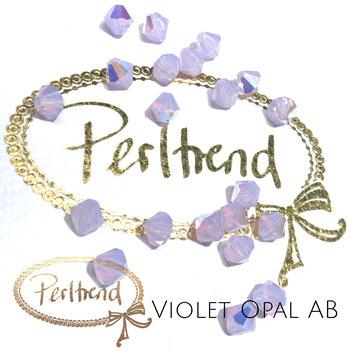 Perltrend www.perltrend.com Luzern Schweiz Onlineshop Schmuck Perlen Swarovski Crystals Bicone beads bead Doppelkegel 6 mm Violet Opal AB Aurore Boreale
