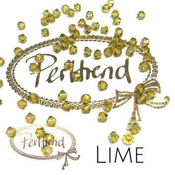Perltrend www.perltrend.com Luzern Schweiz Onlineshop Schmuck Perlen Swarovski Crystals Bicone beads bead Doppelkegel 4 mm Lime