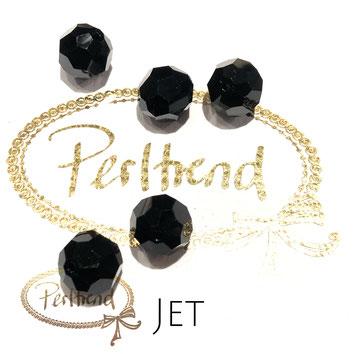 www.perltrend.com Perltrend Luzern Schweiz Onlineshop Perlen Schmuck Accessoires original Swarovski Crystals Crystal facet bead 5000 facettiert rund 12 mm Jet schwarz