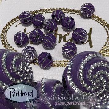 Perlen www.perltrend.com Jewel  Jewellery Jewelry Schmuck Luzern Schweiz Online Shop Acrylperlen Acryl DIY basteln Schmuckdesign Dekoration violet dunkelviolett violett