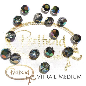 www.perltrend.com Perltrend Luzern Schweiz Onlineshop Perlen Schmuck Accessoires original Swarovski Crystals Crystal facet bead facettiert rund Vitrail Medium