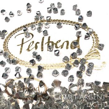 Perltrend www.perltrend.com Luzern Schweiz Onlineshop Schmuck Perlen Swarovski Crystals Bicone beads bead Doppelkegel Crystal Comet Argent Light