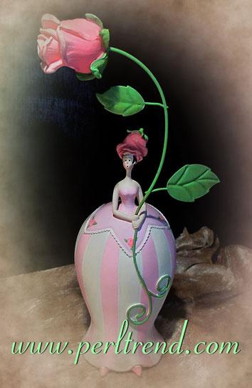 Blumenmädchen Flowergirl Dekoration www.perltrend.com