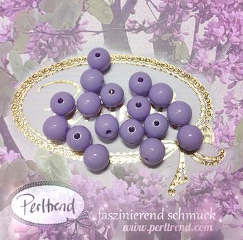 Perlen www.perltrend.com Jewel  Jewellery Jewelry Schmuck Luzern Schweiz Online Shop Acrylperlen Acryl DIY basteln Schmuckdesign Dekoration  glänzend lila flieder lavender pastellviolett pastell violett