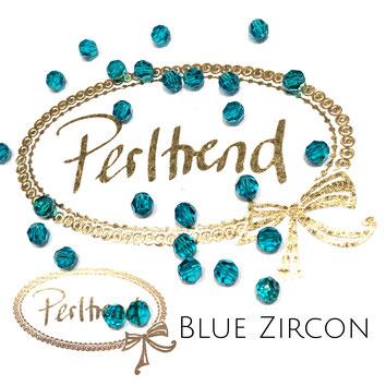 www.perltrend.com Perltrend Luzern Schweiz Onlineshop Perlen Schmuck Accessoires original Swarovski Crystals Crystal 5000 facet bead facettiert rund 4 mm Blue Zircon
