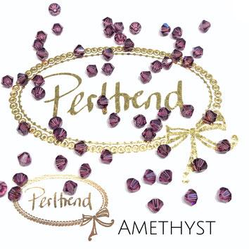 Perltrend www.perltrend.com Luzern Schweiz Onlineshop Schmuck Perlen Swarovski Crystals Bicone beads bead Doppelkegel Amethyst