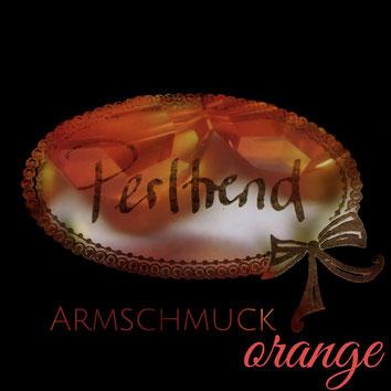 Perltrend Luzern Schweiz www.perltrend.com Schmuck Jewellery Jewelry Bijoux Gioielli Armschmuck Armband Bracelet Armkette Accessoires Armbänder orange orangefarben