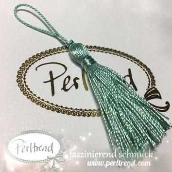 www.perltrend.com Perltrend Schweiz Luzern Perlen Beads Crystals Edelsteine Schmuckzubehör Schmuckverarbeitung Verarbeitungsmaterial basteln Dekoration Quasten türkis