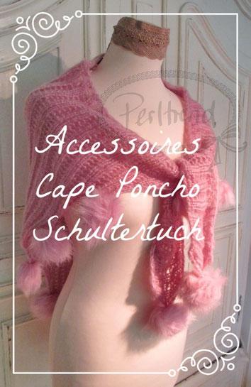 www.perltrend.com Accessoires Cape Schultertuch Poncho Perltrend Onlineshop Schmuck Luzern Schweiz Schals