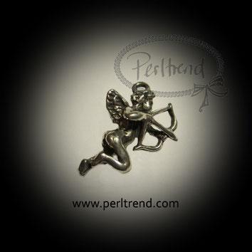www.perltrend.com Anhänger Amor silberfarben