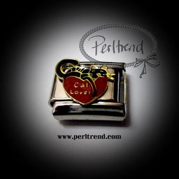 www.perltrend.com charm armband schmuck module cat Lover katze