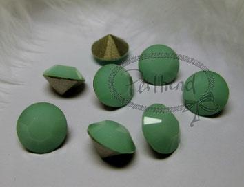 Perltrend Luzern Schweiz Onlineshop Schmuck Perlen Accessoires Verarbeitung Design Swarovski Crystals Crystal original Xilion 1028 Chaton Round Stone Crystal facettiert 8 mm Mint Alabaster