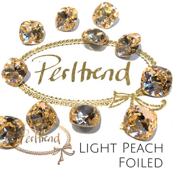 Perltrend Luzern Schweiz Onlineshop Schmuck Perlen Accessoires Verarbeitung Design Swarovski Crystals Crystal original Fancy Stones Cabochons Round Square Cushion 4470 12 mm Light Peach