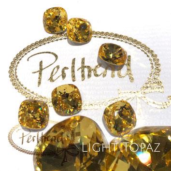 Perltrend Luzern Schweiz Onlineshop Schmuck Perlen Accessoires Verarbeitung Design Swarovski Crystals Crystal original Fancy Stones Cabochons Round Square Cushion 4470 12 mm Light Topaz