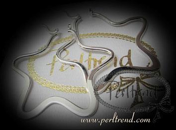 www.perltrend.com Ohrschmuck Creolen Earrings Schmuck Jewellery Jewelry Onlineshop Luzern Schweiz Perltrend silber silberfarben versilbert stern star