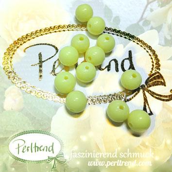Perlen www.perltrend.com Jewel  Jewellery Jewelry Schmuck Luzern Schweiz Online Shop Acrylperlen Acryl DIY basteln Schmuckdesign Dekoration  glänzend gelb zitrone pastellgelb