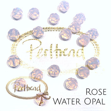 www.perltrend.com Perltrend Luzern Schweiz Onlineshop Perlen Schmuck Accessoires original Swarovski Crystals Crystal facet bead 5000 facettiert rund 8 mm  Rose Water Opal