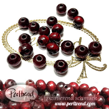 www.perltrend.com Sandelholz Sandelwood Perlen rot 8mm spirituell natur Budda Gebet Gebetskette