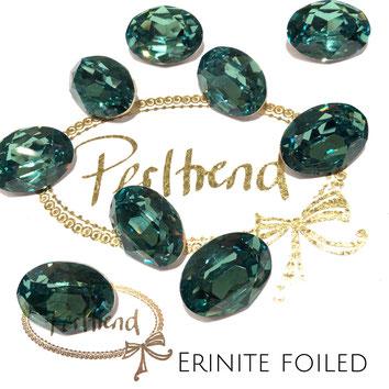 Perltrend Luzern Schweiz Onlineshop Schmuck Perlen Accessoires Verarbeitung Design Swarovski Crystals Crystal original  Fancy Stone oval 18 mm facettiert Erinite